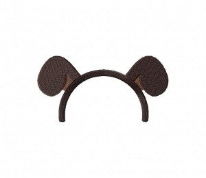 Animal Ears Brown Stitched 5_5 Inch