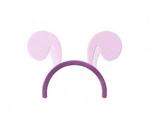 Animal Ears Lavender Stitched 5_5 Inch