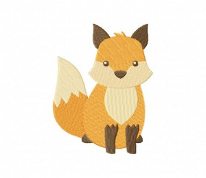 Awesome Crouching Fox Stitched 5_5 Inch