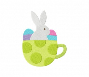 Easter Green Teacup Stitched 5_5 Inch
