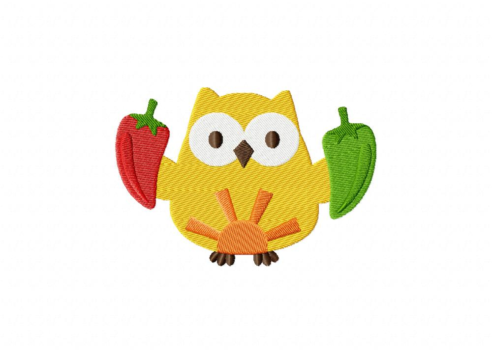 Mexican owl machine embroidery design