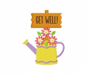 Water Can With Sign Get Well 5_5 inch