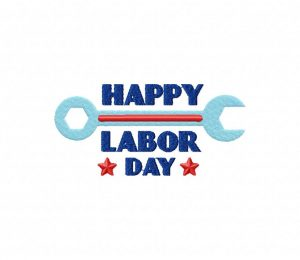 Happy Labor Day 1 Stitched 5_5 Inch