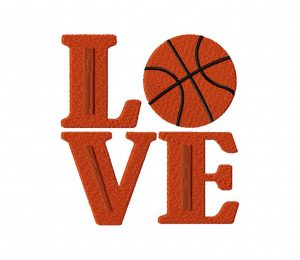 Love Basketball Stitched 5_5 Inch