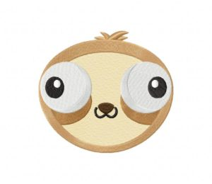 Funny Crazy Sloth Stitched 5_5 Inch