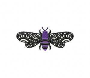 Lacewing Bee Purple5_5 inch