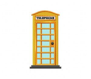 Yellow Phone Booth 5_5 inch