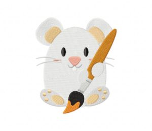Artsy Mouse Stitched 5_5 Inch