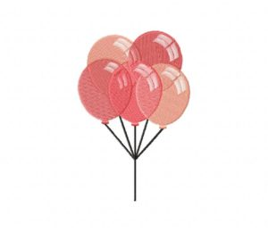 Shades of Pink Party Balloons Stitched 5_5 Inch