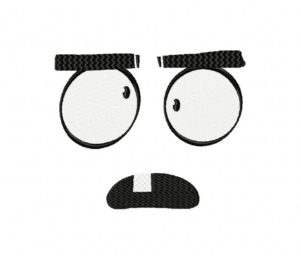 Funny Expression Clipart Stitched 5_5 Inch