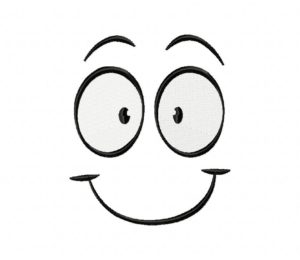 Smiling Expression Clipart Stitched 5_5 Inch