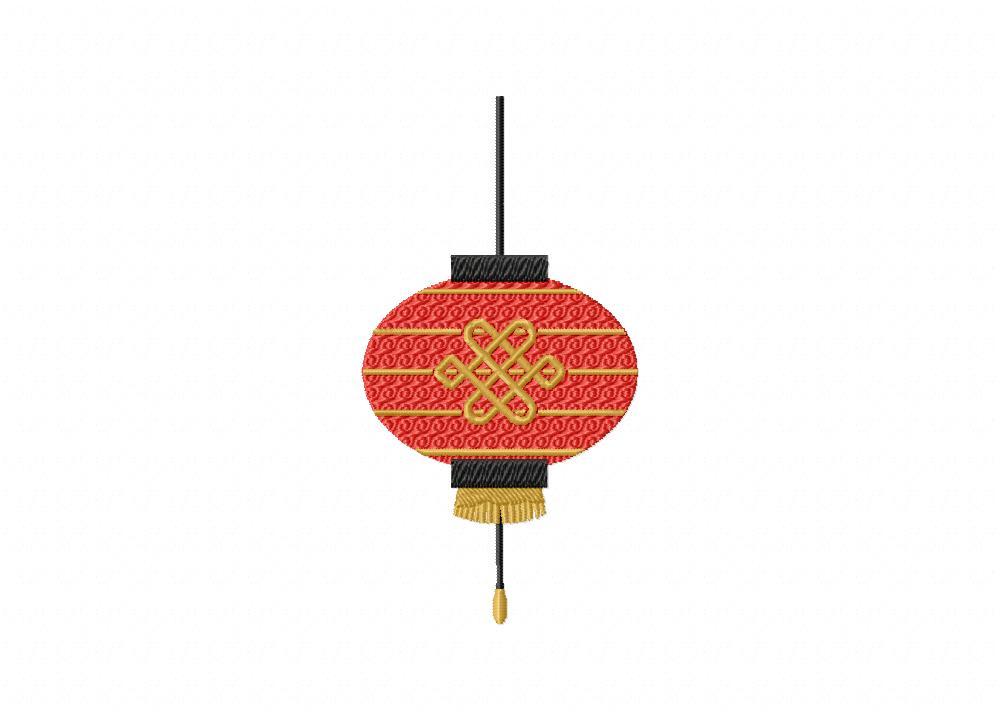 red ornate chinese lantern machine embroidery design blasto stitch