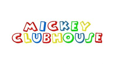 Disney Mickey Mouse Clubhouse Style Machine Embroidery Font Set