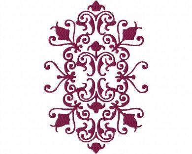 Decorative Artistic Machine Embroidery Design Pattern Blasto Stitch