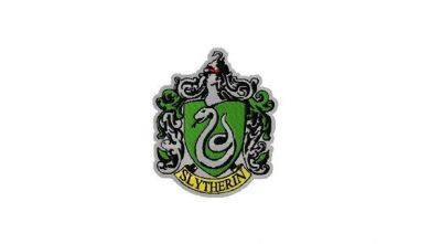 Harry potter slytherin house crest machine embroidery design