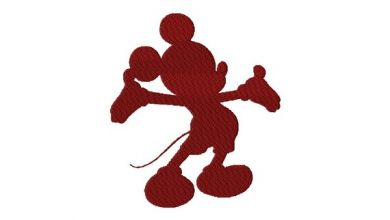Disney Mickey Mouse Silhouette Fill & Applique Embroidery Design