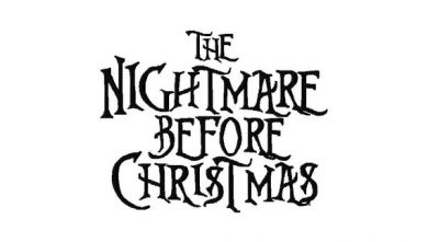 Nightmare Before Christmas Style Machine Embroidery Font Set