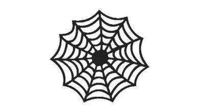 Halloween Spider Web Machine Embroidery Pattern Blasto Stitch